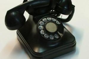 Telefoni in bachelite anni '50