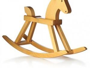 Cavallino a dondolo legno anni '50