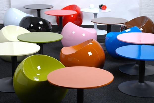 Mobili colorati anni 39 60 fluo psichedelici geometrici - Mobili colorati design ...